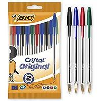 BIC Cristal Original bolígrafos punta media (1,0 mm) – colores Surtidos, Blíster de 10 unidades