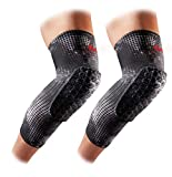 Knee Compression Sleeves: McDavid Hex Knee Pads Compression Leg Sleeve for Basketball, Volleyball, Weightlifting, and More - Pair of Sleeves, MGRID, Adult: LARGE