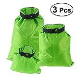 UEETEK 3 Stück/ Set Trockenbeutel,Ultra-light Nylon Packsacks für Camping Bootfahren ,Ideal für die Lagerung von Kleidung/Sonnenschutz Creme / Schuhe Etc...