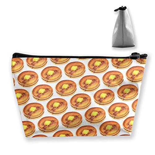Trapezoid Makeup Pouch Storage Holder Donuts Pancake Womens Travel Case Cosmetic Makeup Pouch