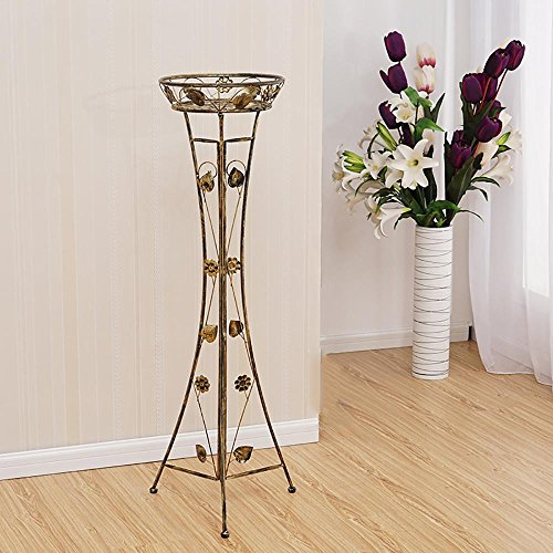 LLLXUHA Art de Fer Amovible Type de Plancher Support de Fleurs, intérieur métal Assemblée Étagère à Fleurs, Balcon Succulentes Présentoir, Green, 118cm
