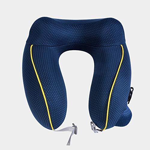 Almohada Inflable En Forma De U, Almohada Inflable Automática para Protección del Cuello, Almohada para Adultos para Viajes De Siesta
