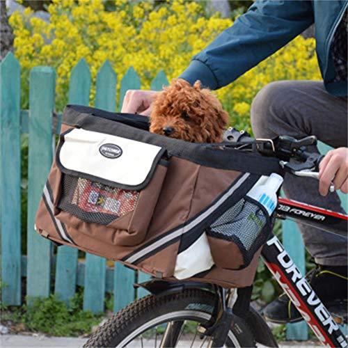 IW.HLMF Portabicicletas para Mascotas Cesta para...