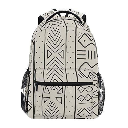 LNLN Black On Bone Mochilas Divertidas College School Book Bag Travel Senderismo Camping Daypack