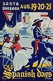 Old Spanish Days Fiesta Poster 1937