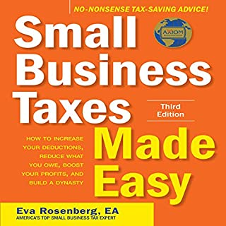 Small Business Taxes Made Easy, Third Edition audiobook cover art
