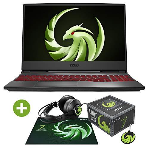 MSI Alpha 15 A3DD-077 (39,6cm/15,6 Zoll/120Hz) Gaming-Laptop (AMD Ryzen 5 3550H, 8GB RAM, 512GB PCIe SSD, Windows 10) + Lootbox für Alpha15 Bundle (Gaming Headset, Mauspad, Anhäger)
