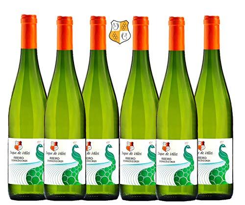 DUQUE DE VALEI Vino blanco – D.O.Ribeiro – Vino Gallego - caja de vino - 6 botellas x 75cl