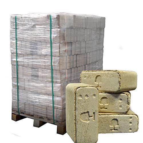 ▶ Premium Holzbriketts aus Buche, *0,37€/kg*, 960kg auf Palette, kostenfreie Lieferung, handlich verpackt in 96 Pakete à 10kg, ohne Bindemittel hergestellt, Holz-Briketts