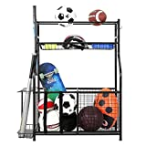 SNAIL Garage Sports Equipment Storage Organizer with Baskets and Hooks, Garage Sports Gear and Ball...
