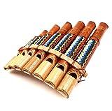 Bali PAPAYA - Flauta de pan de bambú, instrumento musical, madera artesanal, panpipas de bambú, flauta panflute