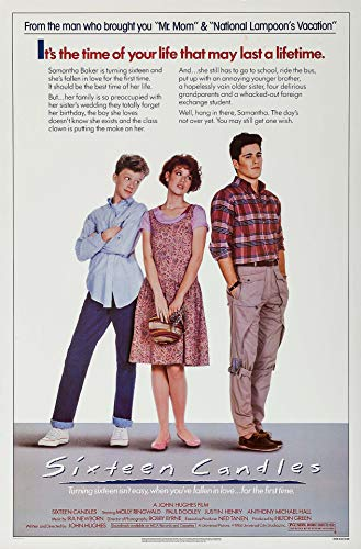 Sweetums Signatures Sixteen Candles Movie Poster 24' x 36' inch(60 x 91.5 cm) Frameless Gift Rolled Master Print