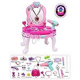 Euopat Make-up Tisch Set,Kommode Spielzeug Set, So Tun, Als Spielen Make-up Spielzeug Set Beauty Princess Schminktisch, Tolles Geschenk Für Kinder