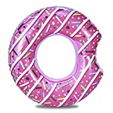 ZHANGXU Donuts Inflable, Piscina Anillo Gigante Piscina Sea Party Juguete Círculo Beach Flotante Inflable Colchón De Agua Hijos Adultos (Color : Pink60cm)