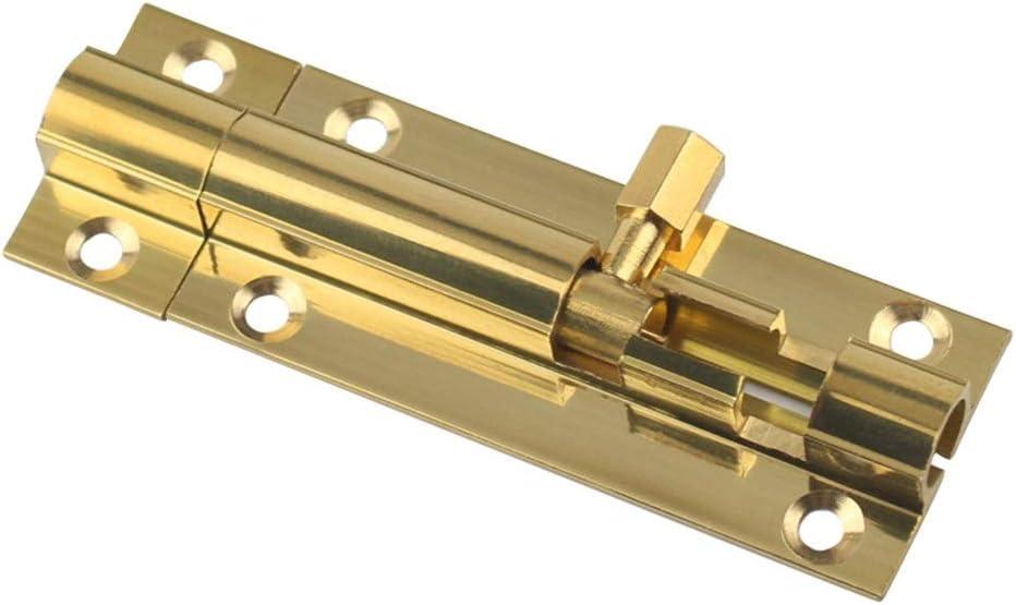 WODMB Brass Doors Slide Latch Lock Bolt Latch Barrel Home Gate S