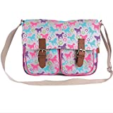 Milly Green Playful Ponies Large Satchel Cartable 39 Centimeters Multicolore (Multicolour)