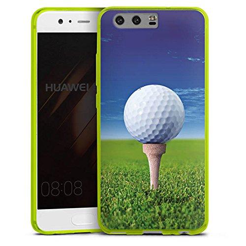 DeinDesign Huawei P10 Slim Case transparent neon grün Silikon Hülle Schutzhülle Golf Golfball Sport