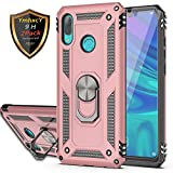 YmhxcY Huawei p smart 2019 Case with Tempered Glass Screen