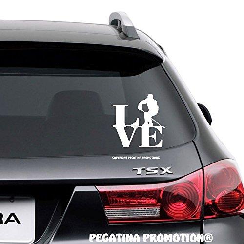 Eishockey Eishockeyspieler Typ1 Love Aufkleber 15 cm Liebe Hobby Sticker Auto Lack Scheibe Autoaufkleber von Pegatina Promotion ®