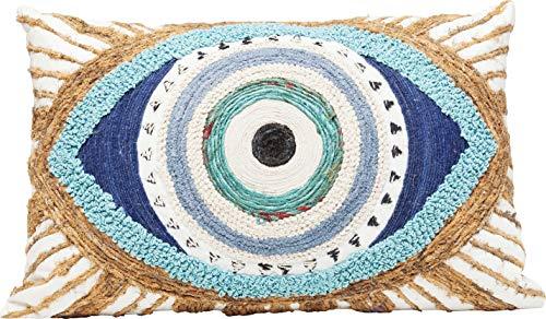 Kare Design Kissen Ethno Eye, rechteckiges Dekokissen für das Sofa, Kissen in Augen Form, mehrfarbiges Kissen, 35x55cm (H/B/T) 3,75 54 36