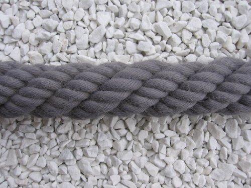 Handlaufseil Absperrseil Handlauf Seil 40mm Fb. grau
