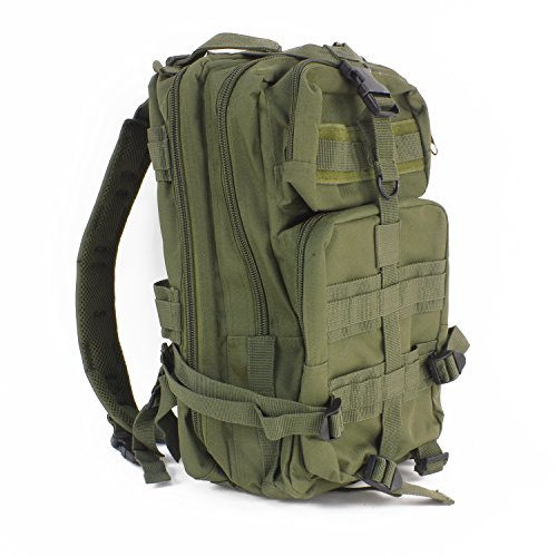 MediTac Tactical Assault Pack - First Aid Rucksack - 18' Military MOLLE Backpack (Olive Drab)