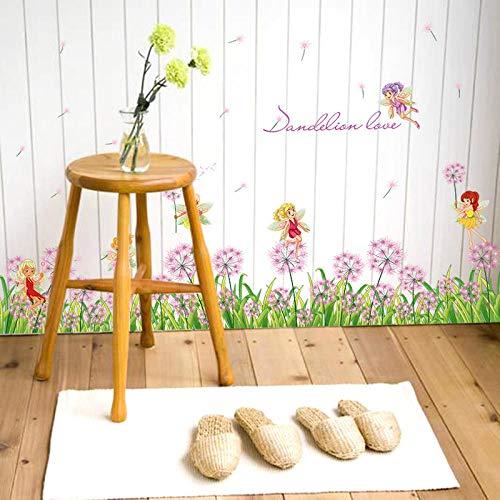 Diy Und Werkzeuge,Blumenfee Baseboard Schlafzimmer Kinderzimmer Hintergrund Wandtattoo Dekoratives Aufkleber Papier@50 * 70