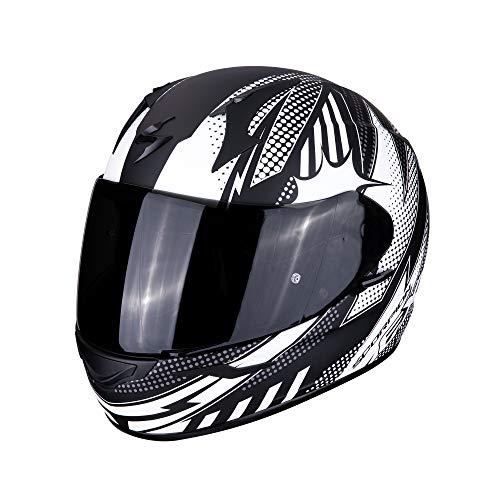 Scorpion NC Casque Moto Adulte Unisexe, Noir/Blanc, XL