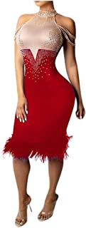 Women Patchwork Sleeveless Off Shoulder Dress Sexy Bodycon Club Wear Party Sparkle Sequin Evening Prom Dress