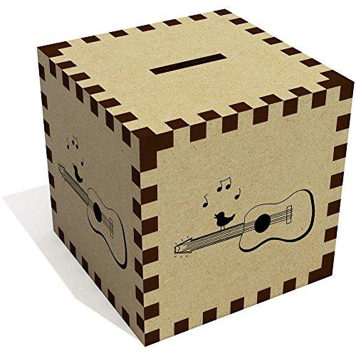 Azeeda 'Gitarre und Vogel' Sparbüchse / Spardose (MB00035059)