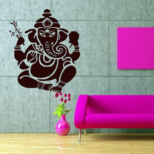 Indische Art Buddha Statue Sakyamuni Mandala Wandaufkleber Home Decor Elefant Ganesha Buddhismus Om Logo Legende Gott Yoga Studio Kunst Aufkleber Poster