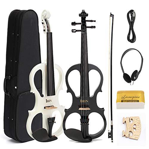 BZAHW 4/4 Elektrische Violine mit Kopfhörer Gig Bag Rosin Bow Kabel für Anfänger