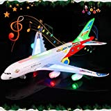 Hardik Toys Airplane Toy Kids Toy Plane Airbus with Flashing Lights, Realistic Aircraft
