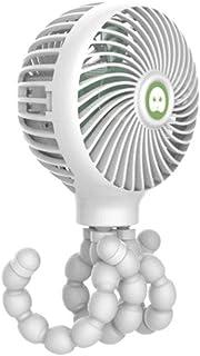 Ocamo Mini Ventilador Pulpo de la Historieta de la deformación Que dobla la Fan del PDA de la Carga por USB Mini para la Cama del Carro de bebé Blanco Pulpo