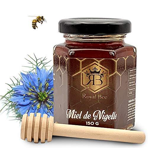 Miel de nigelle d' Egypte 150 G + 1 cuillère en bois offerte - 100% Naturel et Artisanal Sans Colorants ni Conservateurs | Antioxydant, Gourmet - Qualité Premium