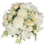 StarLifey Seda Ramos Boda, Humedad Ramo Flores Peonias, Vintage Ramo de Flores de peonia Rosa, Artificial, para Boda decoración para el hogar, 2unidad