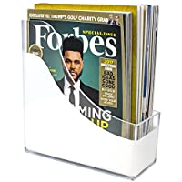 (Magazine/File Holder) - Sorbus Magazine Holder File Organiser, Great for Desktop, Shelf, Home or Office, White Clear (Magazine/File Holder)