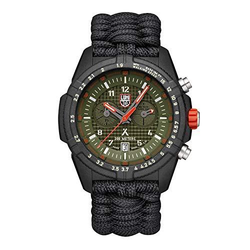 Relógio de pulso Luminox Edição Limitada Bear Grylls 3798 | Preto/Verde