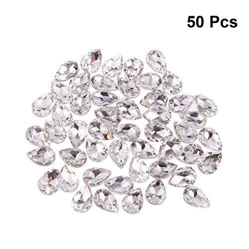 Artibetter Perlas Cristal facetadas Forma lágrima