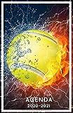 Agenda 2020 2021: Agenda Scolaire Tennis | Journalier de Septembre 2020 à Août 2021 pour Collège Lycée