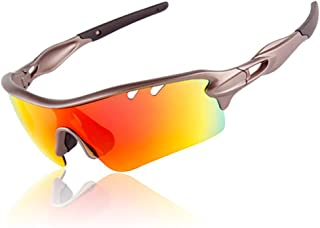 Men/Women Polarized Cycling Sunglasses with 5 Changeable Lenes for Outdoor Riding Driving Fishing