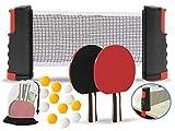 Complete Ping Pong Paddle Set (2 Player Bundles) + 12 Ping Pong...
