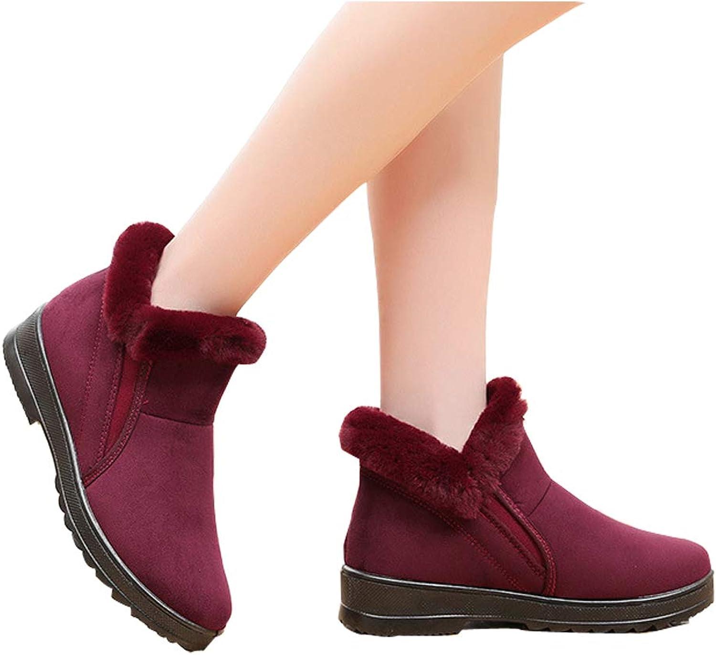 KAOKAOO Women's Fleece Thickened Winter Boot Snow Boot Casual shoes