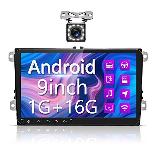 Radio Coche Android para VW, Hodozzy Autoradio Bluetooth con Pantalla Táctil HD de 9