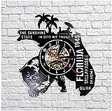 Reloj de Pared de Vinilo Florida Cityscape Disco de Vinilo Reloj de Pared Regalo...