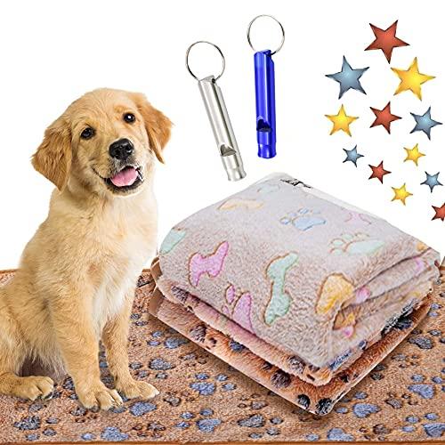 Hundedecke Kuscheldecke,76x52 Liegedecke für Hunde,Katzendecke mit Pfoten,Teppich Waschbar Haustiere,Flauschige Haustierdecke,Haustierdecke Hund,Haustierdecke (76x52, Braun)