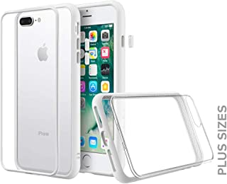 RhinoShield Modular Case for iPhone 8 Plus / 7 Plus [Mod NX] Customizable Shock Absorbent Heavy Duty Protective Cover - Compatible w/Wireless Charging & Lenses - Shockproof White Bumper w/Clear Back