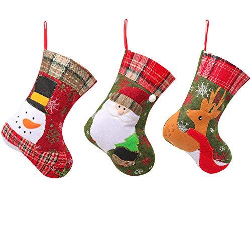 Calcetines Decoración Navidad Santa y Reno