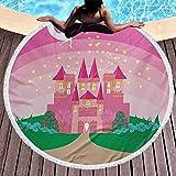 Alfombra de playa redonda para niñas Toallas de playa para baño...