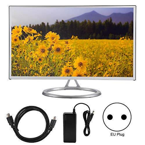 ASHATA 27 inch full-HD-monitor, 1920 x 1080, gebogen 16: 9 LCD-monitor 3000R met VGA/HDMI-ingang, blu-ray-filterscherm, oogverzorging voor thuiskantoor, EU.